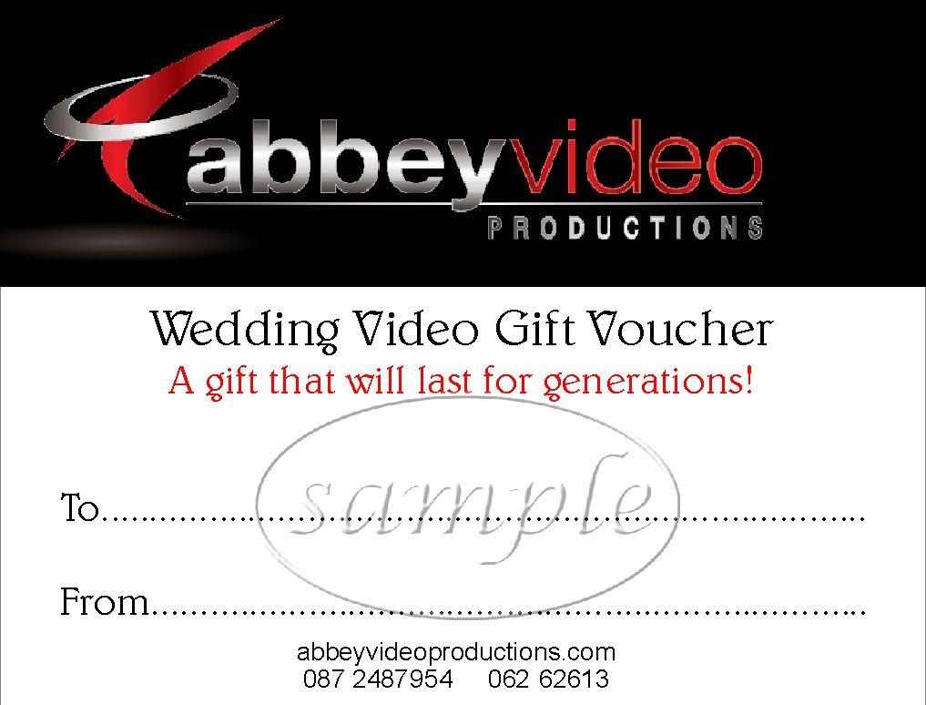 Wedding DVD Gift Voucher