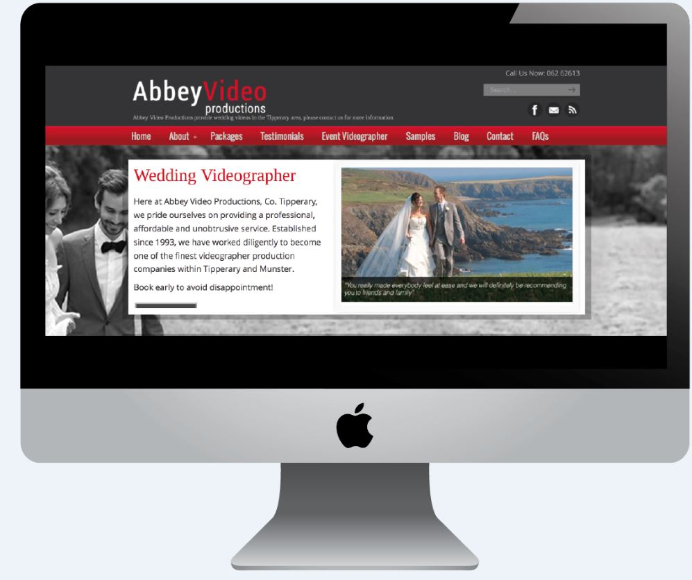 Abbey Video on Mac with website design cork